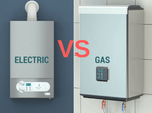 electric vs gas tankless heater