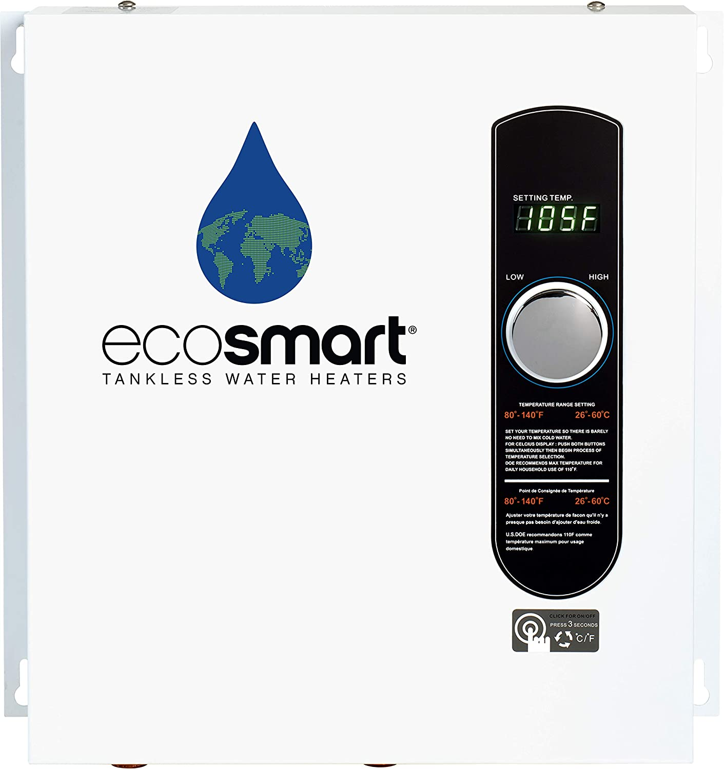 EcoSmart ECO 27 Electric Tankless Water Heater 2021