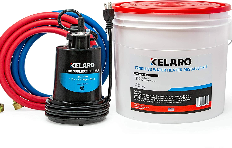 Kelaro Tankless Water Heater Flushing Kit Just add Vinegar Descaler