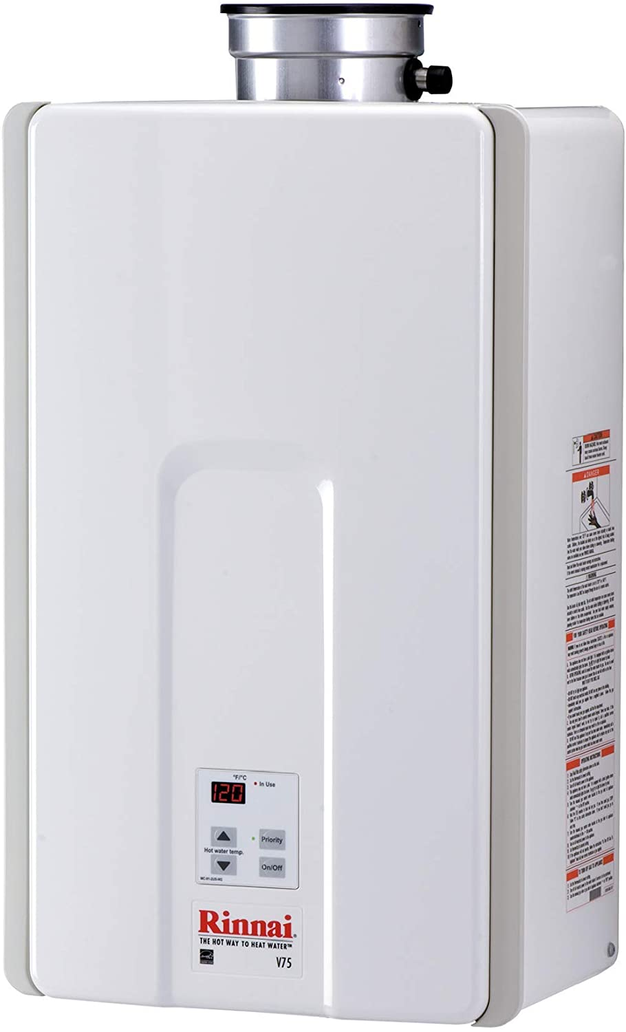 Rinnai V75IN Indoor Tankless Hot Water Heater