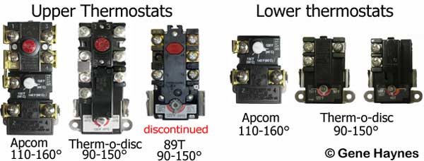 Replace upper and lower Thermostats 2